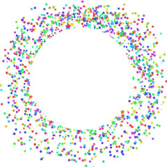 Stars circle banner confetti on white  vector eps 10