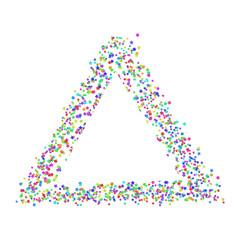 Stars triangle banner confetti on white  vector eps 10