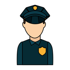 police officer avatar icon vector illustration design