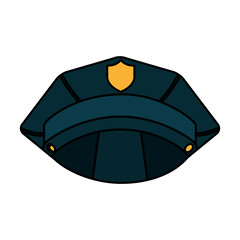 police hat isolated icon vector illustration design