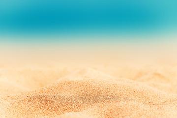 Summer Background - Sunny Beach with golden sand