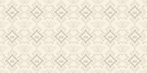 Interior design. Floral vector background pattern