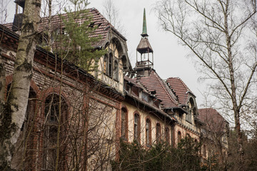 Canvas Prints Old Hospital Beelitz Abandoned hospital and sanatorium Beelitz Heilstätten near Berlin, Beelitz, Germany