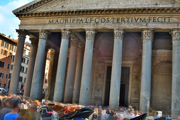 Pantheon in Rome, Italy; long exposure and HDR style.