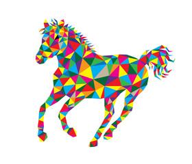 Geometric Horse, art vector polygonal design