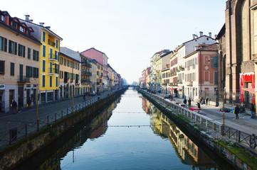 Navigli in Milan, Italy
