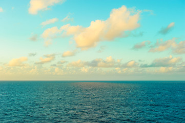 Turquoise sea water perfect blue sky Sunset seacape