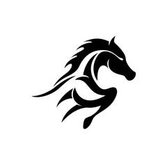 shiluette running horse