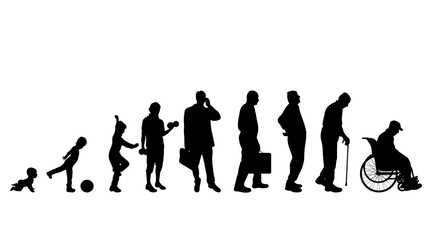 Vector illustration of generation of man.