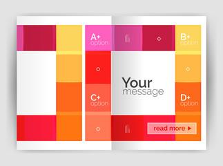Vector modern geometrical a4 flyer brochure template