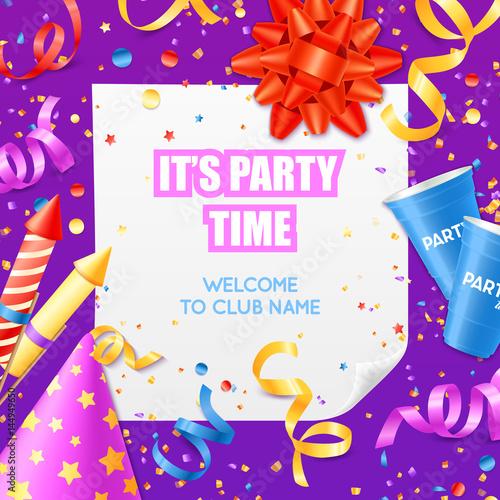 party announcement invitation festive colorful template fotolia com