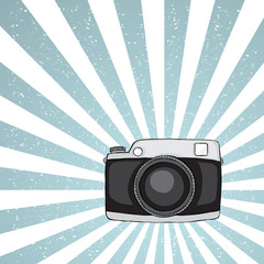 Hipster camera on grunge background