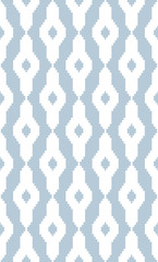 Seamless geometric pattern with faint stripes. The style like Jaspe or Ikat. Fashion background for printing on fabric, Wallpaper,  bedding, decor, upholstery, curtains. Fashionable ethnic ornament