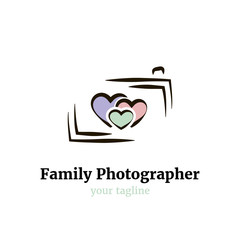 Vector logo template for family photographer.