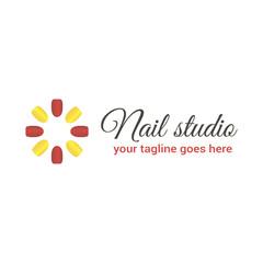 Vector logo template for nail studio, salon manicure or nail bar.