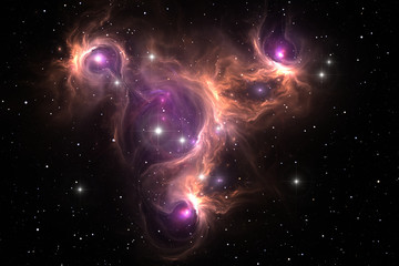 Space nebula, for use with projects on science, research, and education.