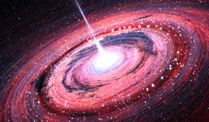 Black hole at the center of the Milky Way Galaxy, illustration