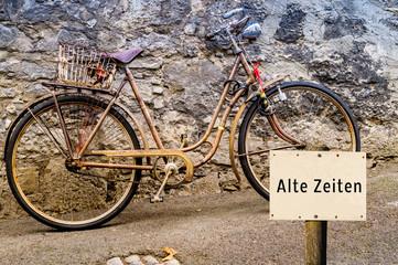 Alte Zeiten Antikes Fahrrad