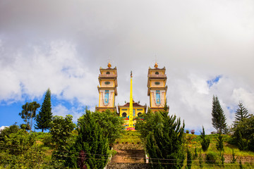 Dien Tho Phat Mau Da Phuoc Pagoda in Da Lat, Vietnam