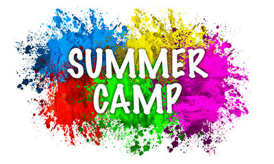 Paint Splatter Words - Summer Camp