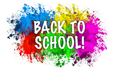 Paint Splatter Words - Back to School