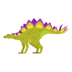 Vector flat style illustration of prehistoric animal - Stegosaurus.