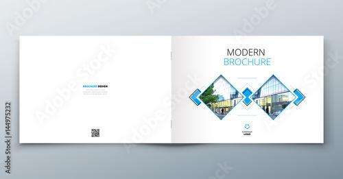 Landscape Brochure Design Corporate Business Template For Report Catalog Magazine Book Booklet Horizontal