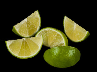 Fresh Ripe Juicy Lime Segments