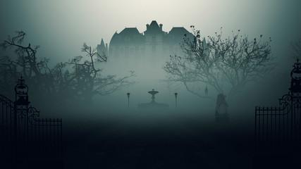 Dark Horror Movie Scene background.
