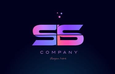 ss s s creative blue pink purple alphabet letter logo icon design