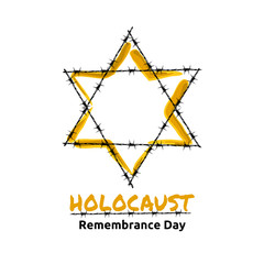 Holocaust Remembrance Day, May 5, vector illustration
