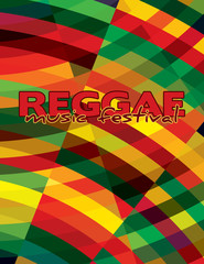 Reggae background for music festival. Vector graphic pattern. CMYK colors