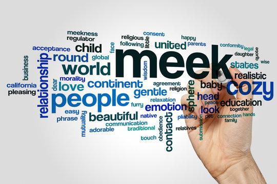 Meek word cloud