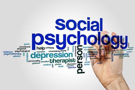 Social psychology word cloud