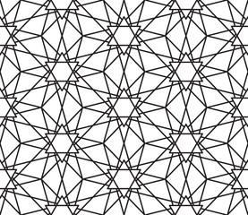 Abstract hexagonal geometry ornament