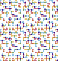 Vector seamless pattern. Modern stylish texture. Repeating geometric tiles of circles