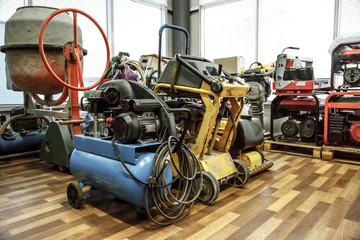 A range of machines in storage