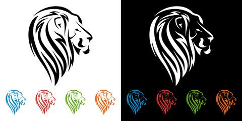 lion head, tiger logo design