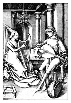Music at home, XV century lifestyle and leisure