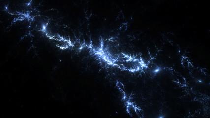 Abstract fractal illustration looks like galaxies
