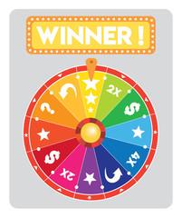 multicolored Lucky wheel flat illustration