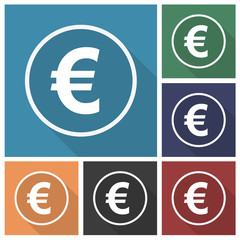 Button - Set - Schatten - Euro