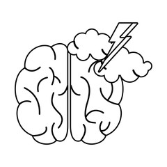 brainstorm idea creativity outline vector illustration eps 10