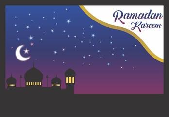 Ramadan Kareem Vector Template