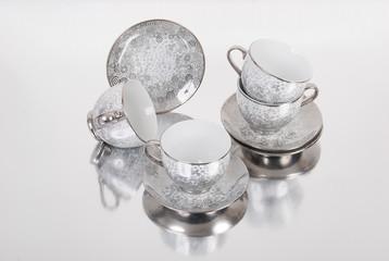 Set of coffee or tea cups