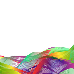 Abstract rainbow color ribbon on white background