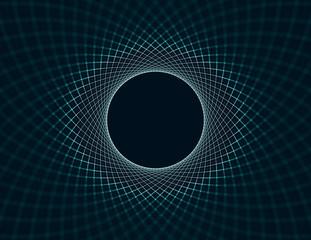 Spiral Mesh Vortex Abstract