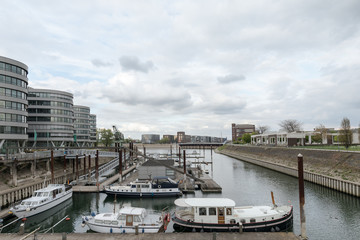 Marina Duisburg View To Inner Harbour / Germany