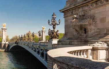 Alexandre III bridge in Paris, France