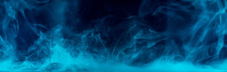 blue smoke over water surface